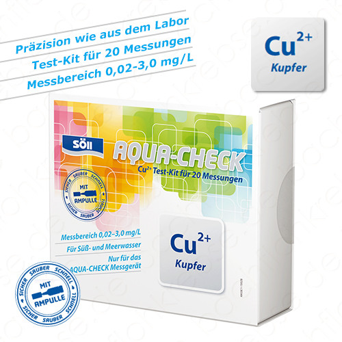 Kupfer Test für Söll Aqua-Check Photometer 20 Tests