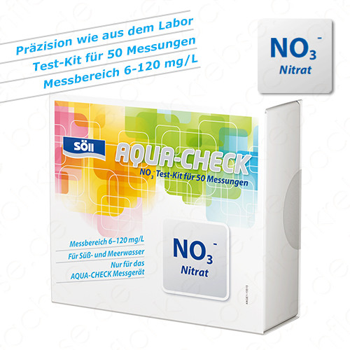 Nitrat Test für Söll Aqua-Check Photometer 50 Tests
