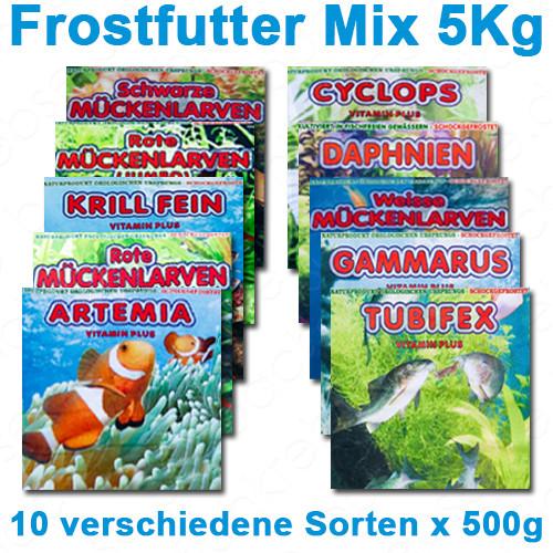 Frostfutter Mix 5 kg - 10 Sorten à 500 g