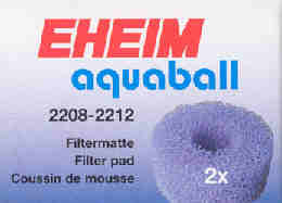 Filtermatte für Aquaball