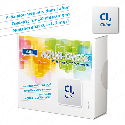 Chlor-Test für Söll Aqua-Check Photometer 50 Tests