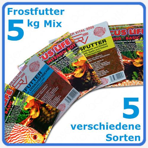 Frostfutter Diskus Mix 5 kg - 5 verschiedene Sorten