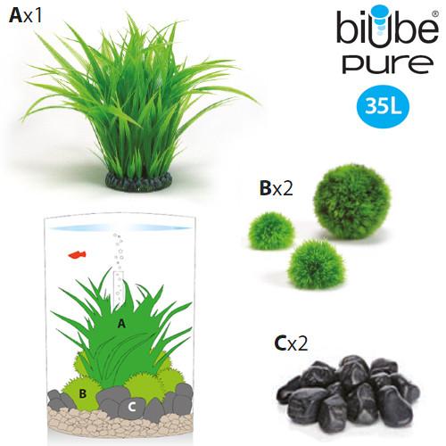 biUbe Pure 35 Liter mit Grasring
