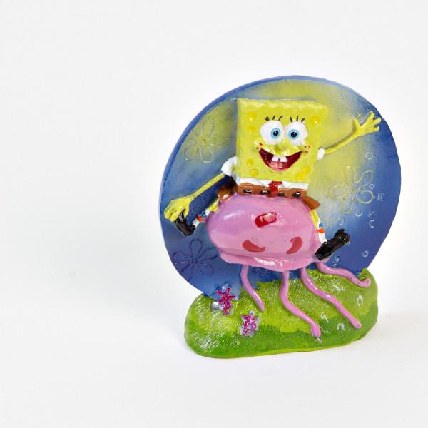 SpongeBob Figur: SpongeBob auf Qualle