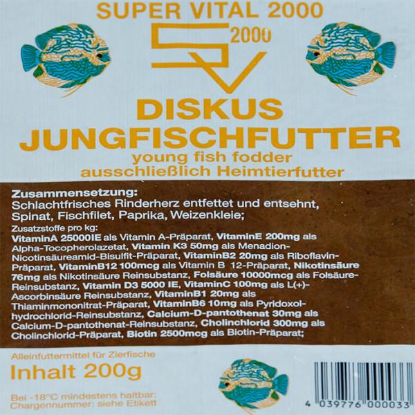 SV2000 Jungfisch 200g Frostfutter