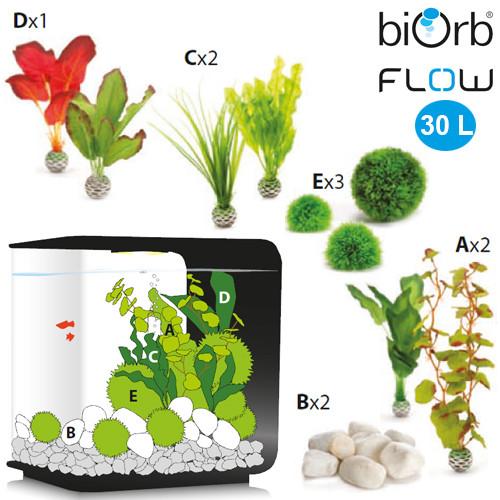biOrb Flow 30 Liter mit Seidenpflanzen